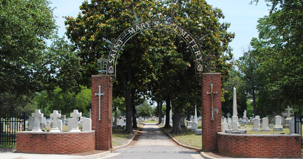 St. Marys Cemetery, Norfolk VA - Entrance Gate